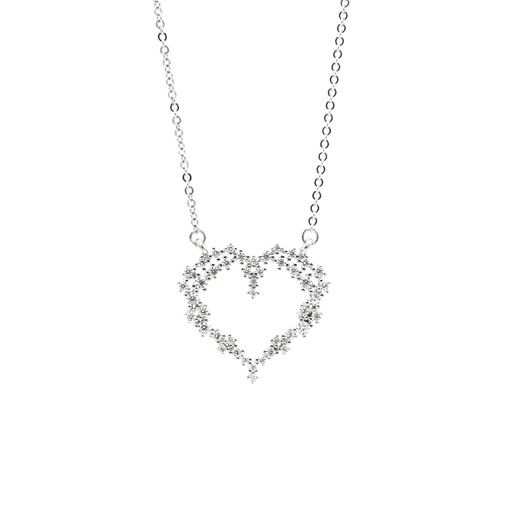 """Obsessed with your heart"" necklace"