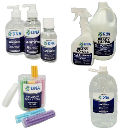 DNA Disinfectants, Sanitizers, and Soaps