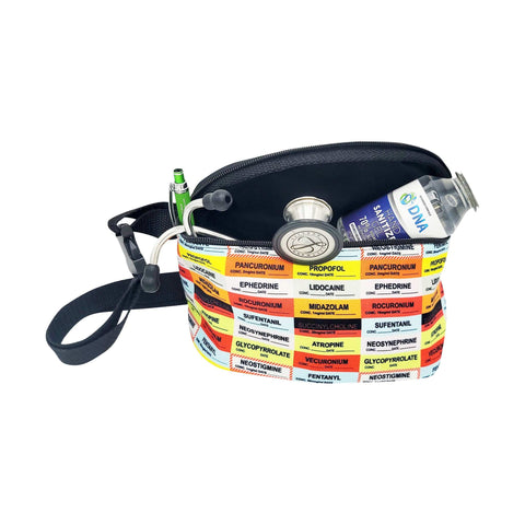 Anesthesia Drug Labels Fanny Pack - next-generation healthcare PPE