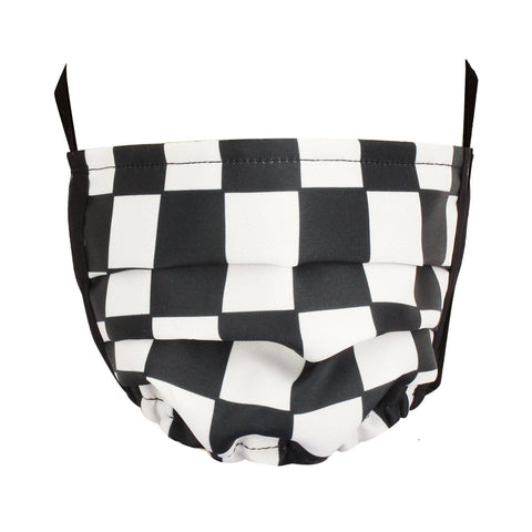 Checkered Flag Adult Face Mask - next-generation healthcare PPE