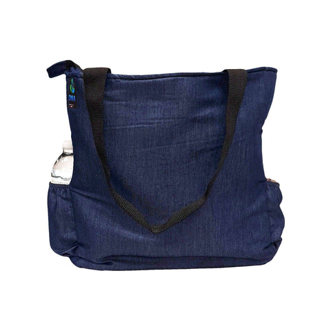 Denim Tote Bag with Laptop Sleeve - next-generation healthcare PPE