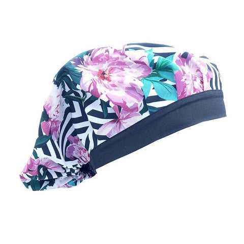 Floral Stripes Scrub Caps ( 5 Styles) - next-generation healthcare PPE
