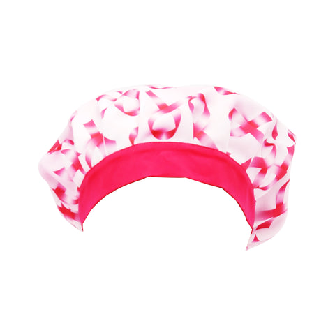 Pink Ribbons Scrub Caps - next-generation healthcare PPE