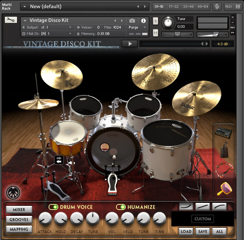 Vintage Disco Kit Kontakt Pack