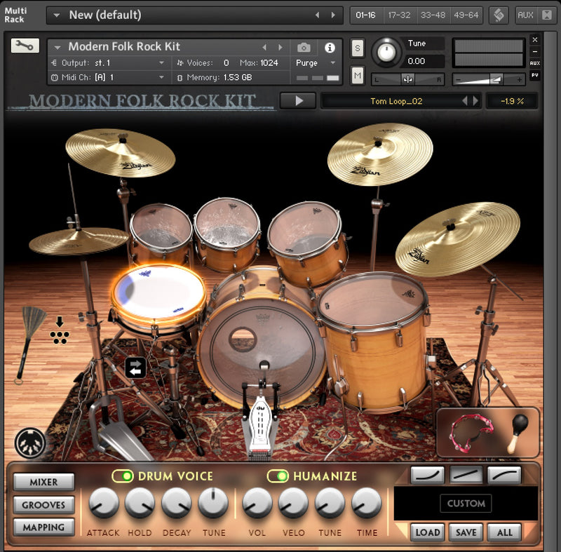 Modern Folk Rock Kit Kontakt Pack