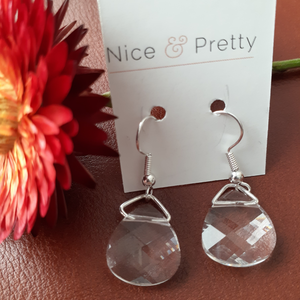 Swarovski large crystal briolette earrings. Nice and Pretty Jewelry