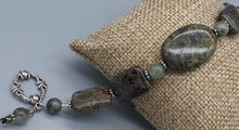 Load image into Gallery viewer, Dragon blood Jasper bead bracelet. Dark green and burgandy. Nice & Pretty Jewelry. Canada
