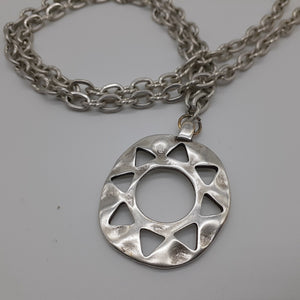 Sun pendant, Organic shaped sun pendant. Pewter sun necklace. Nice & Pretty Jewelry