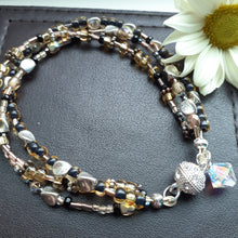 Load image into Gallery viewer, sparkling metallic bead multi strand bracelets. Nice and Pretty Jewelry