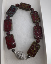 Load image into Gallery viewer, red gray bracelet. nice and pretty jewelry