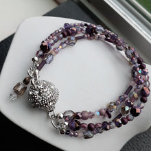 Load image into Gallery viewer, Purple multi strand bead bracelet. Nice and Pretty Jewelry