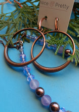 Load image into Gallery viewer, copper hoop earrings. nice and pretty jewelry