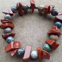 Load image into Gallery viewer, Terra cotta orange bracelet. nice and pretty jewelry