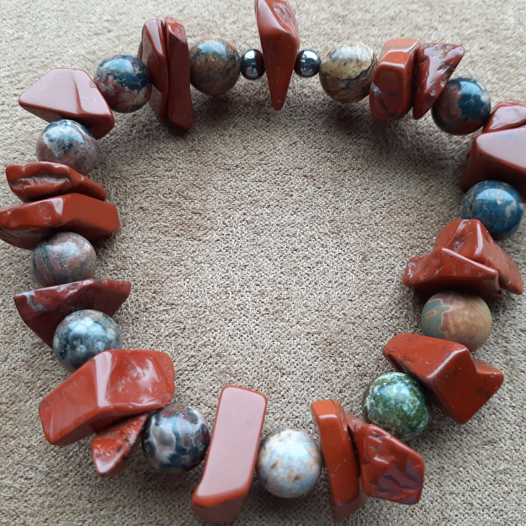 Terra cotta orange bracelet. nice and pretty jewelry