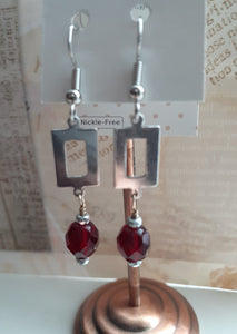 red crystal drop earrings. nice and pretty jewelry.com