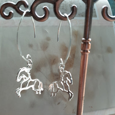 sterling silver horse earrings. nice and pretty jewelry