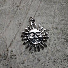 Load image into Gallery viewer, sterling silver sun pendant. nice and pretty jewelry