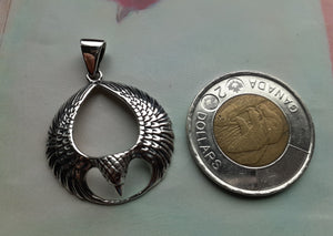 sterling silver eagle wing pendant. nice and pretty jewelry