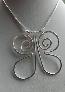sterling silver handmade butterfly pendant. nice and pretty jewelry