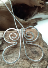 Load image into Gallery viewer, sterling silver handmade butterfly pendant. nice and pretty jewelry