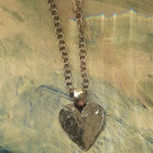Load image into Gallery viewer, hammered heart on chain. nice and pretty jewelry