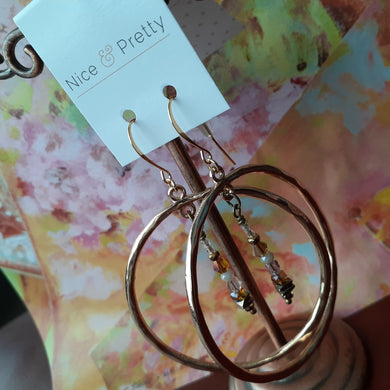 extra large gold hoop earrings. nice and pretty jewelry