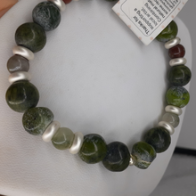 Load image into Gallery viewer, dragons blood jasper bead bracelet. nice and pretty jewelry