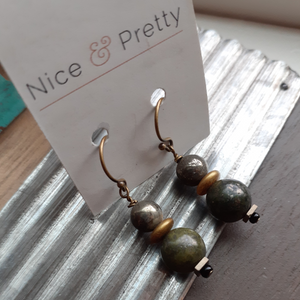 olive green earrings. nice and pretty jewelry