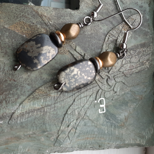green gray stone earring. pyrite earrings, nice and pretty jewelry