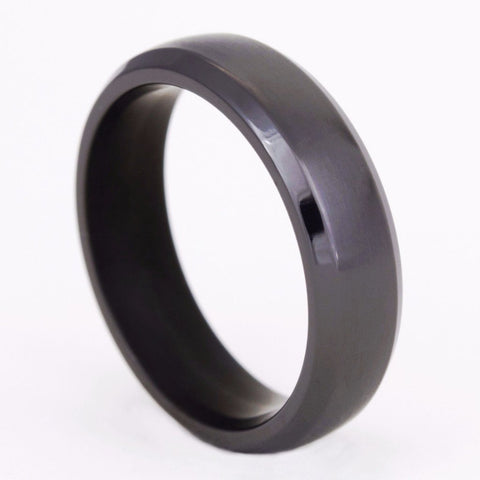 Classic Black Chrome Titanium Ring
