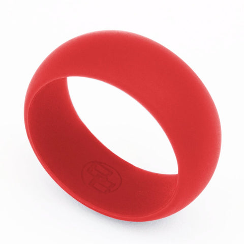 Fire Red Silicone Wedding Ring