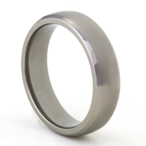 Classic Polished Titanium Ring