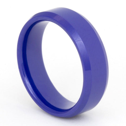 Classic Polished Patrol Blue Zirconium Ring