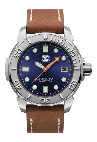 Szanto 5103 Dive Watch Blue/Brown