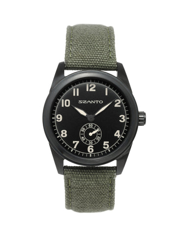 Szanto 1002 Field Watch Black/Army Green