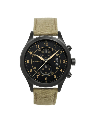 Szanto 1202 Aviator's Watch, Khaki