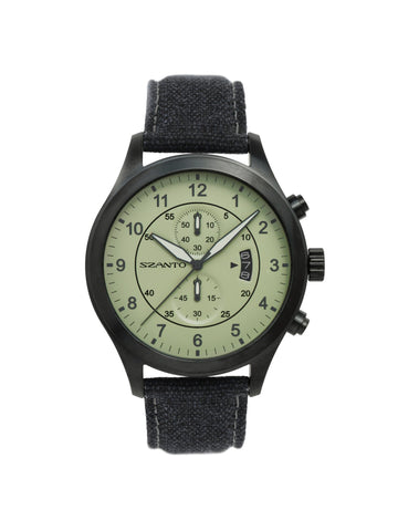 Szanto 1204 Aviator's Watch Green/Charcoal