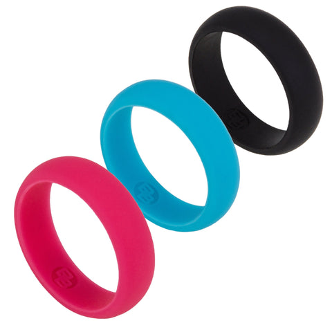 Women's Multi Pack Silicone Wedding Ring