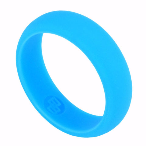 Women's Blue Silicone Wedding Ring