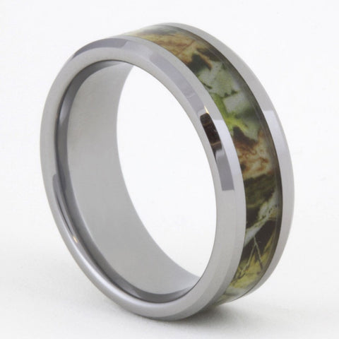 Camouflage Woods Hunting Tungsten Ring