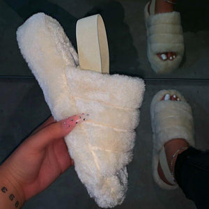 Waterproof Fluffy Slippers