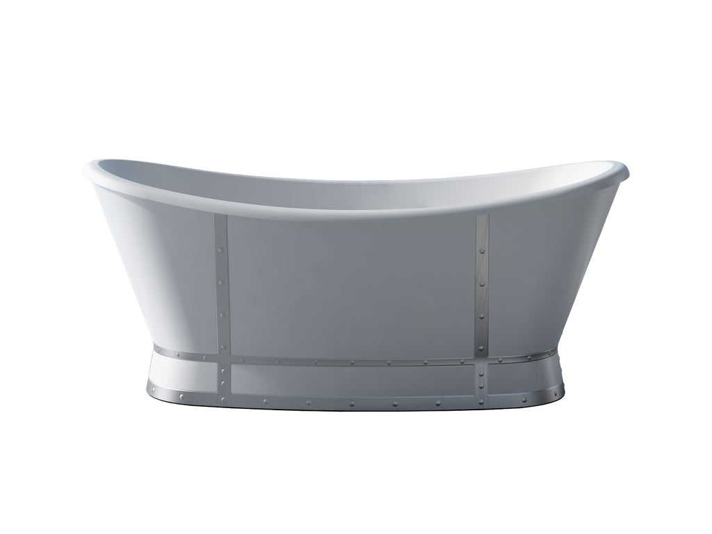 Barbara bathtub white finish metal acrylic high quality