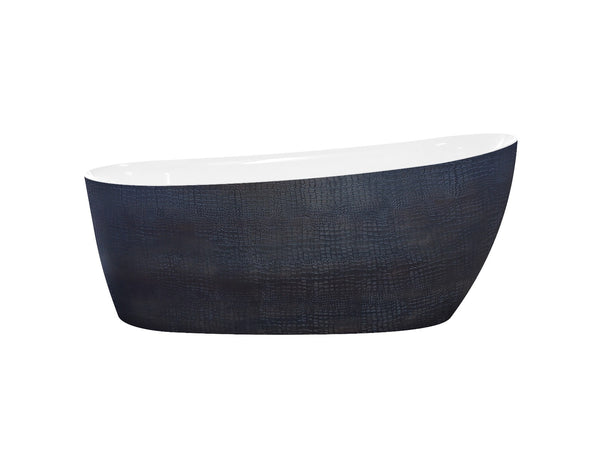 Bosco bathtub acrylic high quality finish black with texture crocodile skin