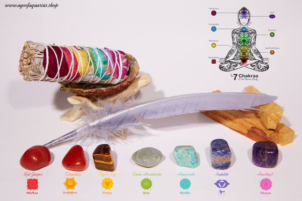 7 Chakra Set (12 items) - Age of Aquarius Store
