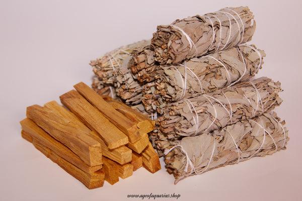 White Sage + Palo Santo Wholesale Bundle: 12 Palo Santo Wood & 12 White Sage Smudge Sticks