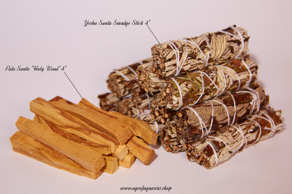 Yerba Santa + Palo Santo Wholesale Bundle: 12 Palo Santo Wood & 12 Yerba Santa Sage Smudge Sticks (Bulk Smudge Bundle) - Age of Aquarius Store