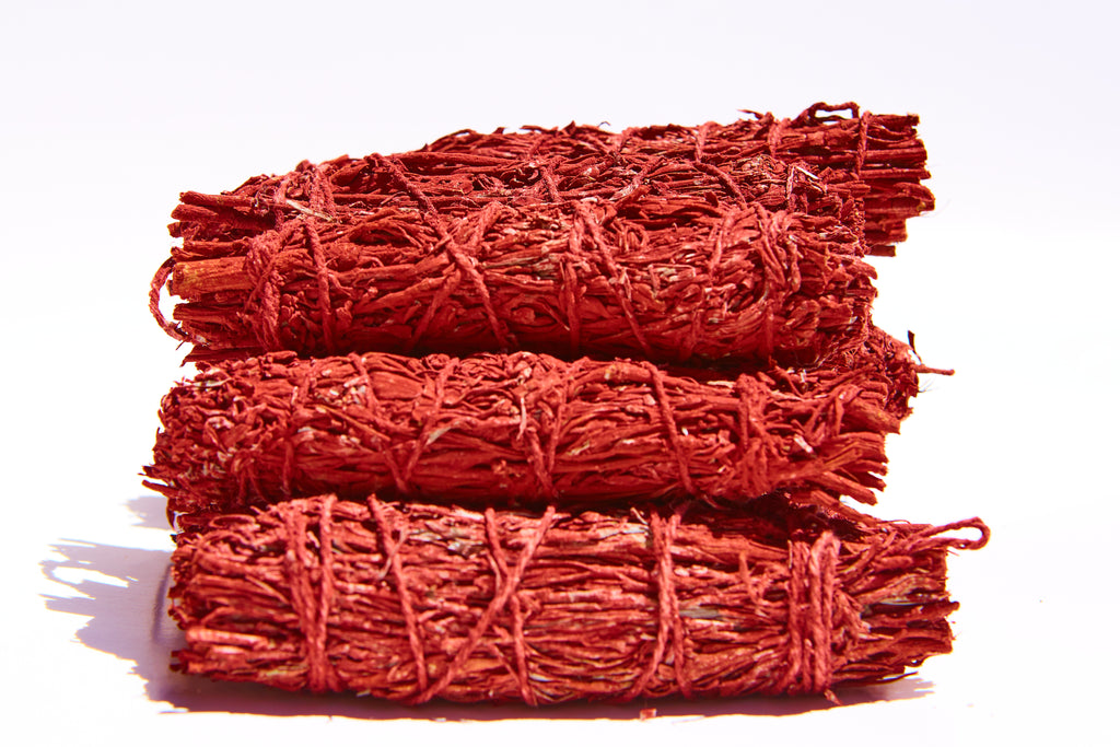 Red Smudge Sage Wholesale Bundle: 12 Red Smudge Sage Sticks (Bulk Smudge Bundle)