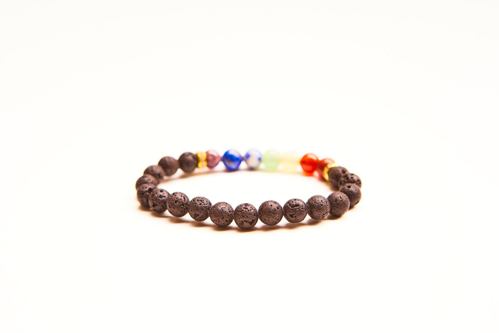 7 Chakra Bracelet. Anxiety bracelet. Natural Crystal Healing Jewellery. Meditation charm