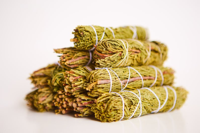 10 Cedar Sage Smudge Sticks (Bulk Smudge Bundle)