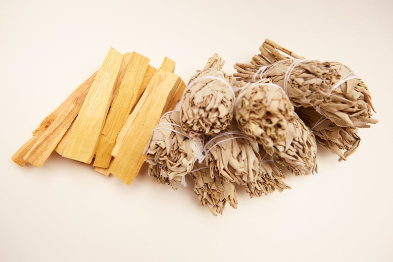 California White Sage + Palo Santo Wholesale Bundle: 12 Palo Santo Wood & 12 White Sage Smudge Sticks (Bulk Smudge Bundle)